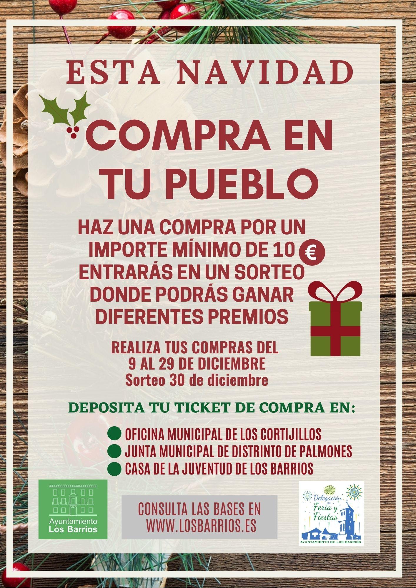 LOS BARRIOS PRESENTA LA CAMPAÑA DE NAVIDAD «COMPRA EN TU PUEBLO»